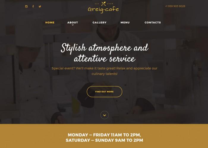 Greig Cafe – Premium Responisve HTML5 Template