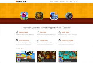 Grizzly – Premium Responsive App Showcase / Corporate WordPress Theme