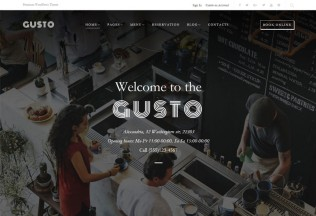 Gusto – Premium Responsive Cafe & Restaurant WordPress Theme