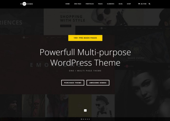 H-Code – Premium Responsive Multipurpose WordPress Theme