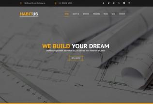 Habitus – Premium Responsive Construction Drupal 8 Theme