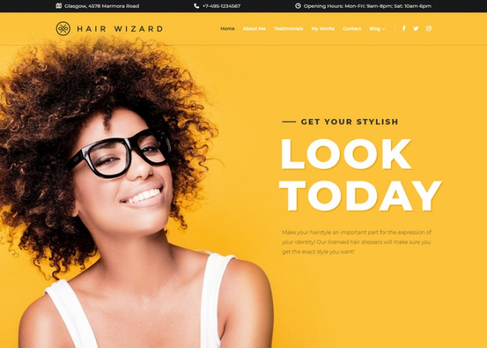Hair Wizard -Premium Responsive Hair Stylist WordPress Theme