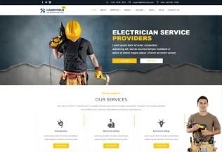 Handyman – Premium Responsive Electrician, Repair, Barber WordPress Theme