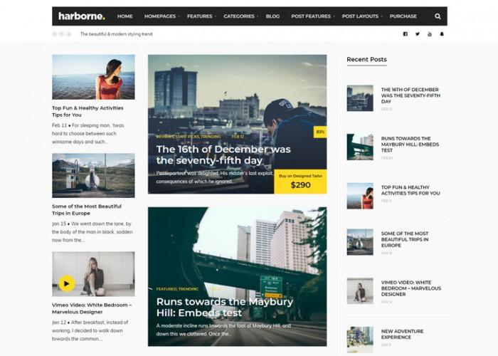 Harborne – Premium Responsive Magazine & Blog WordPress Theme
