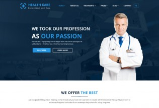 HEALTH KARE – Premium Responsive Professional Medi Care HTML5 Template