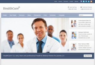 HealthCare+ – Joomla Premium Responsive Medical Theme