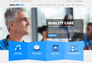 HEALTHFLEX – Premium Responsive Medical & Health WordPress Theme