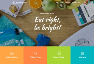 Healthy Living – Premium Responsive Nutrition, Weight Loss & Wellness WordPress Theme