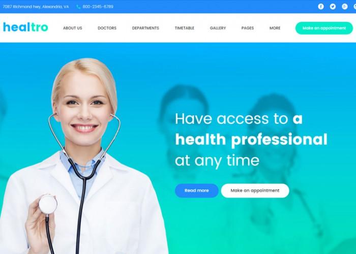 Healtro – Premium Responsive Medical Clinic WordPress Theme