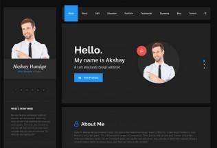 Hello Resume – Premium Resume CV, vCard & Portfolio HTML5 Template