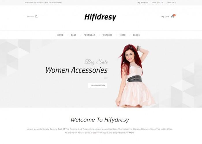 Hifidresy – Premium Responsive Multipurpose OpenCart Theme