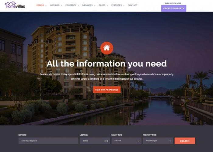 Home Villas – Premium Responsive Real Estate WordPress Theme