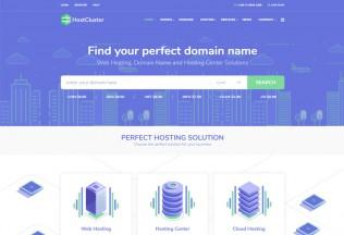 HostCluster – Premium Responsive Hosting WordPress Theme