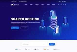 Hostinza – Premium Responsive Isometric Web Hosting HTML5 Template