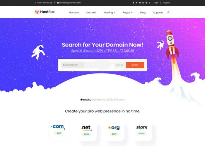 HOSTbox – Premium Responsive Hosting HTML5 Template