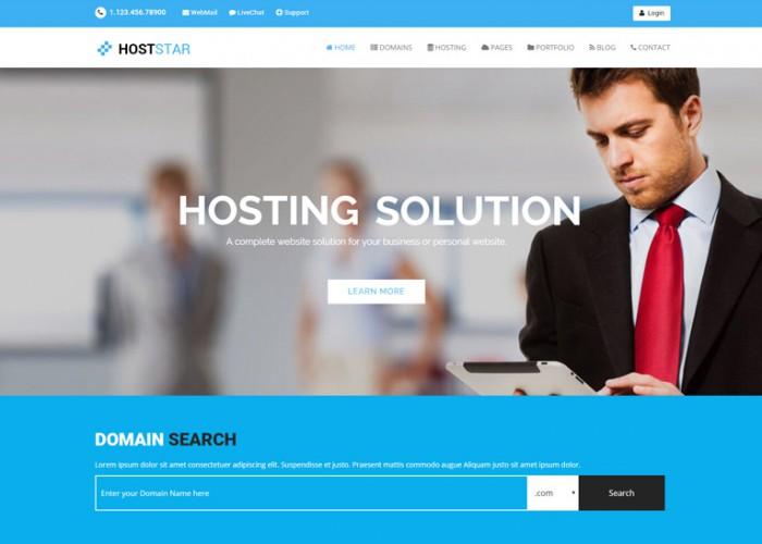 HostStar – Premium Responisve Web Hosting WordPress Theme
