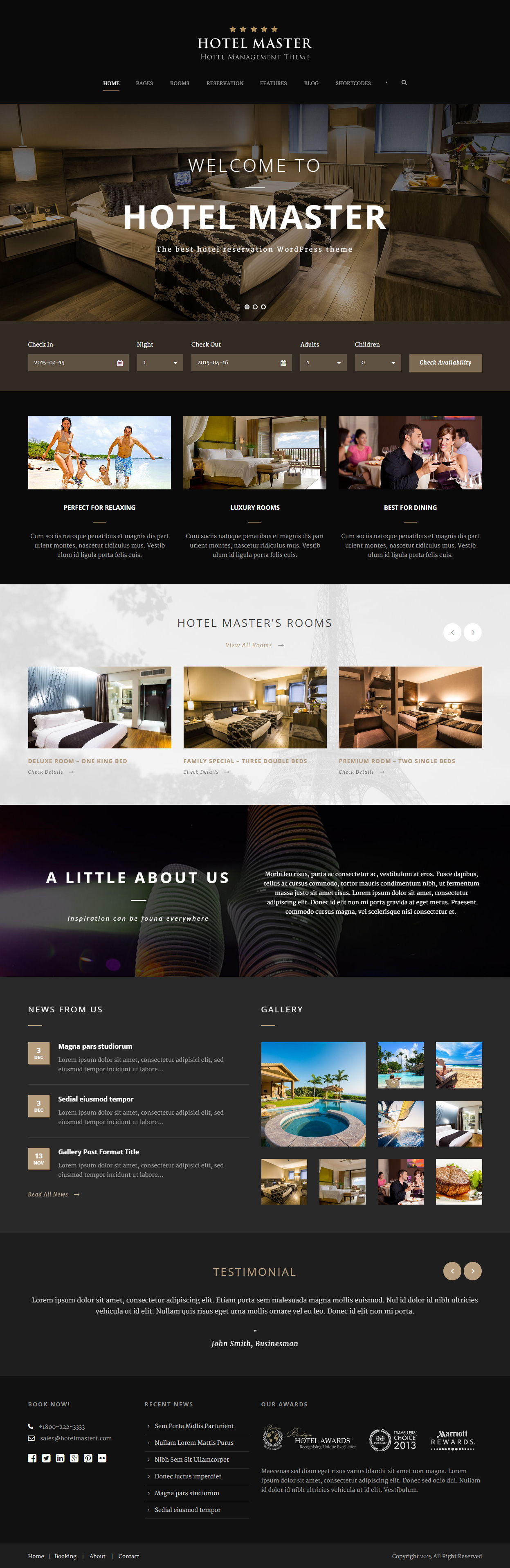 25+ Best Hotel Wordpress Themes 2017 - Responsive Miracle