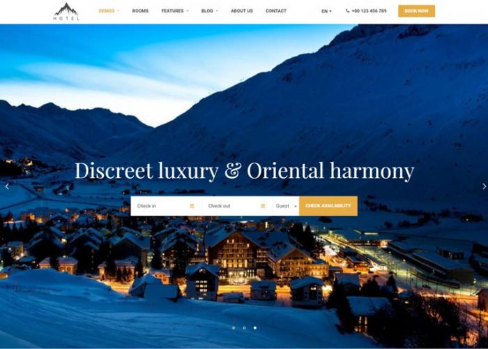 Hotel WP – Premium Responsive Travel & Booking Hotel WordPress Theme