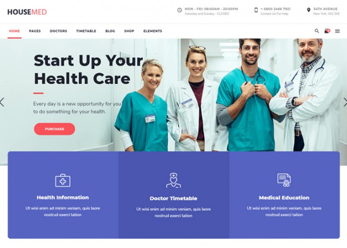 HouseMed – Premium Responsive Medical & Health WordPress Theme
