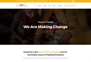 Huminity – Premium Responsive Charity/Fundraising WordPress Theme