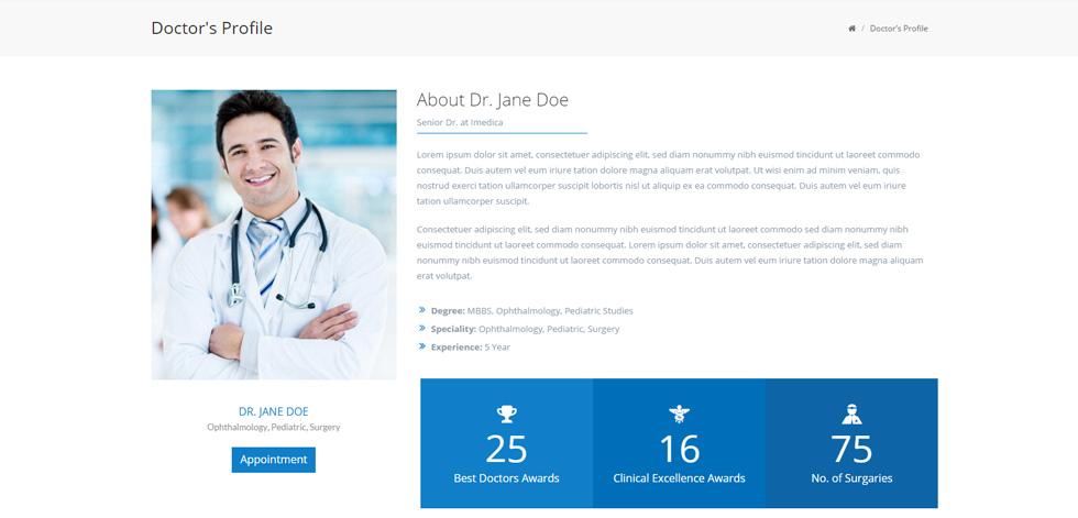 iMedica - Premium Responsive Medical WordPress Theme
