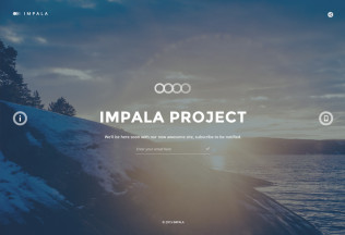 Impala – Premium Responsive Coming Soon HTML5 Template