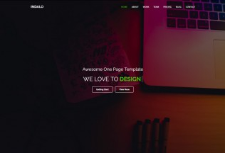 Indalo – Premium Responsive One Page MultiPurpose HTML5 Template