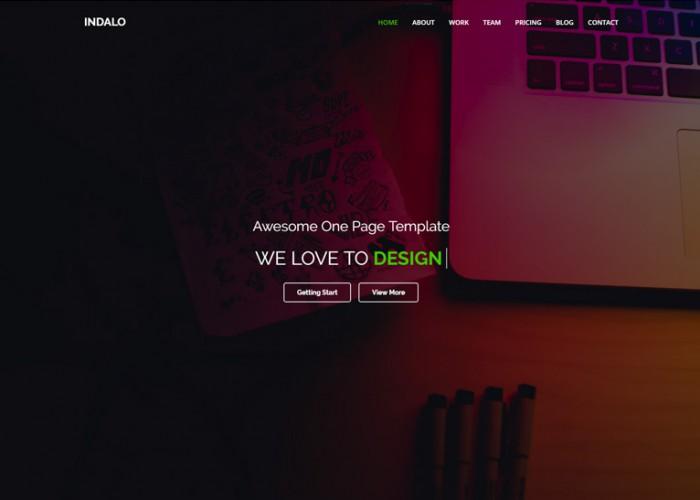 Indalo – Premium Responsive One Page MultiPurpose HTML5 Template