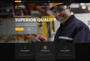 Induscity – Premium Responsive Industrial Business WordPress Theme