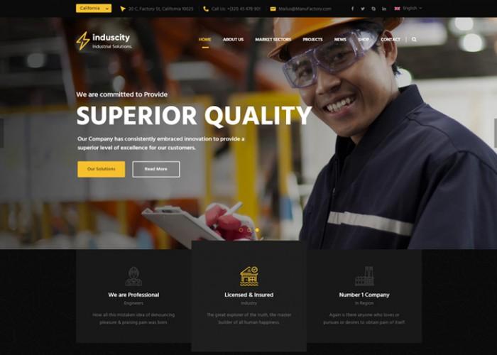 Induscity – Premium Responsive Industrial Business WordPress Theme
