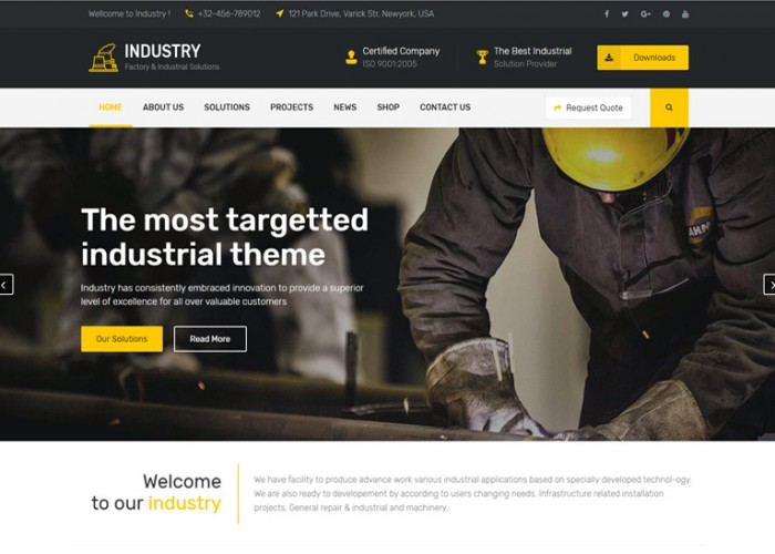 Industry – Premium Responsive WordPress Theme for Factory and Industrial Business