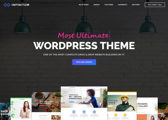 Infinitum – Premium Responsive MultiPurpose WordPress Theme