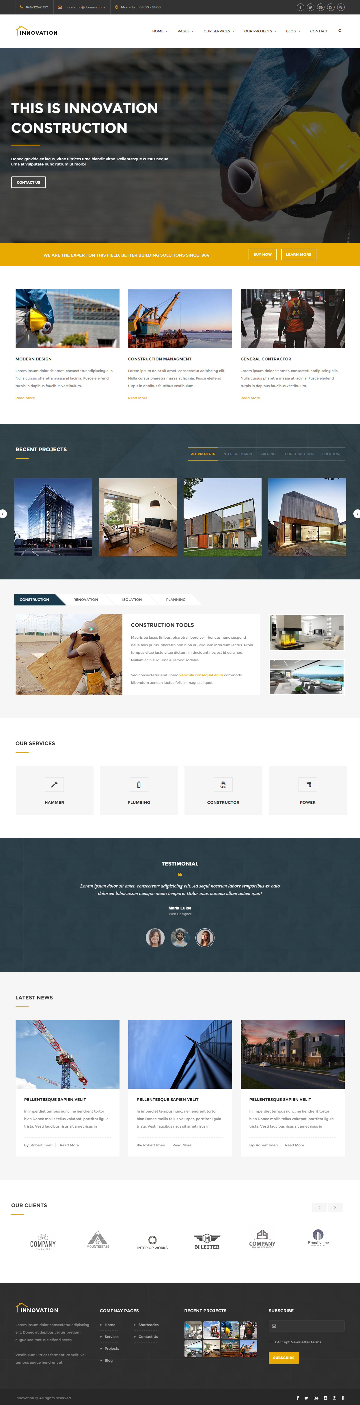 30+ Best Construction Company HTML5 Templates 2017 - Responsive ...