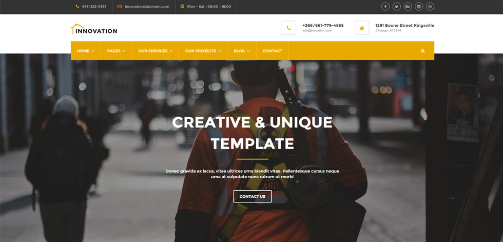 Innovation Premium Responsive Construction Html5 Template