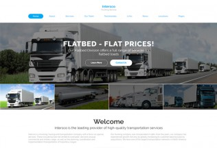 Intersco – Premium Responsive Logistic and Transportation HTML5 Template