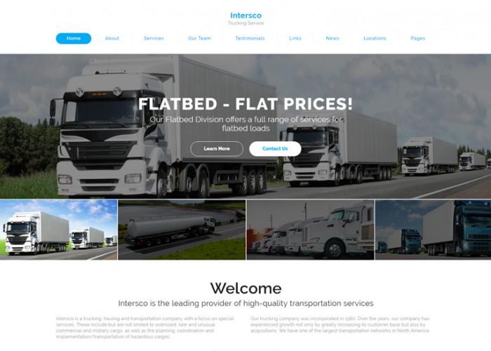 Intersco – Premium Responsive Logistic and Transportation HTML5 Template