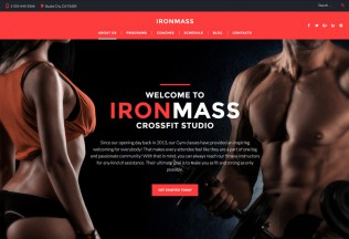 IronMass – Premium Responsive Gym Fitness & Bodybuilding WordPress Theme