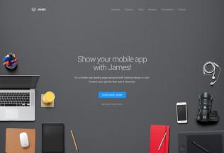 James – Premium Responsive Material Design WordPres App Theme
