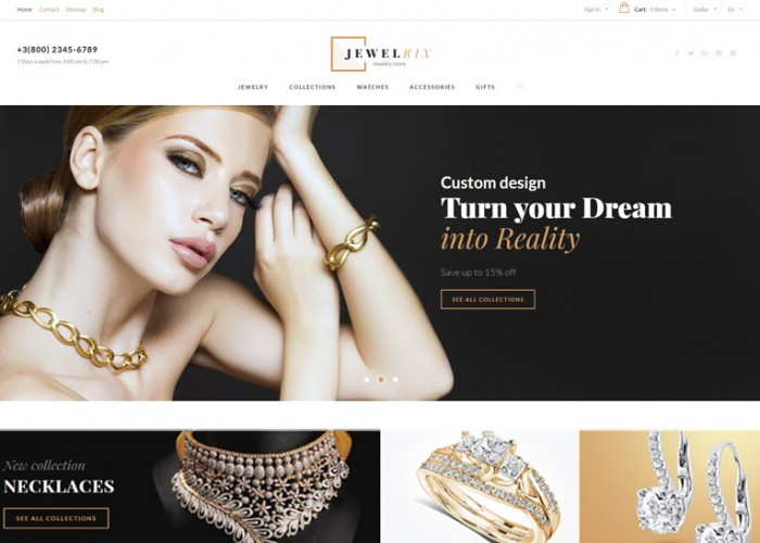 Jewelrix – Premium Responsive Jewelry Store PrestaShop Theme