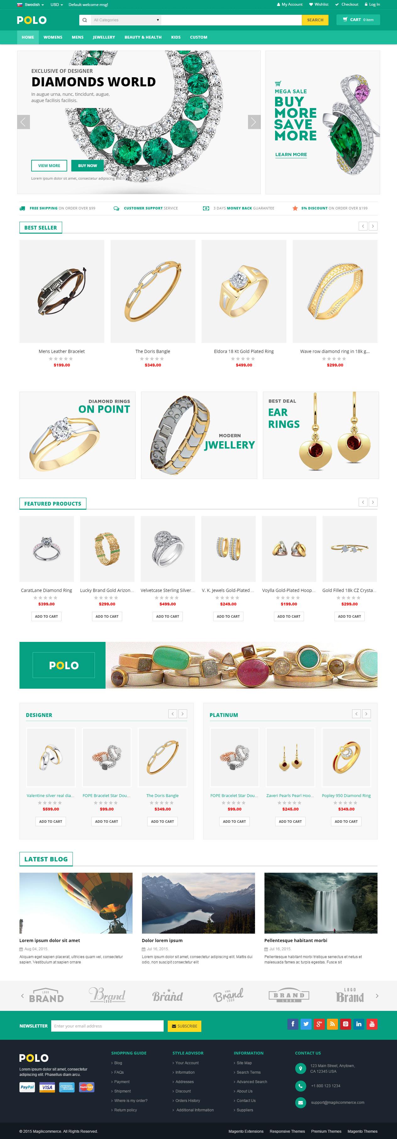 5+ Best Premium Responsive Magento Jewellery Store Themes in 2015 ...