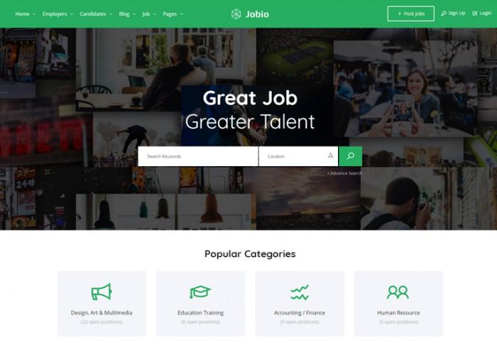JobHunt – Premium Responsive Job Board HTML5 Template