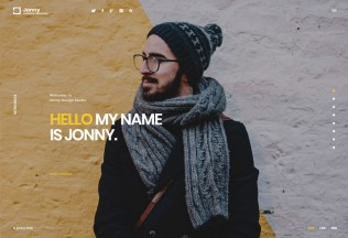 Jonny – Premium Responsive One Page WordPress Theme