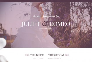 Juliet – Premium Responsive Ceremony & Wedding HTML5 Template