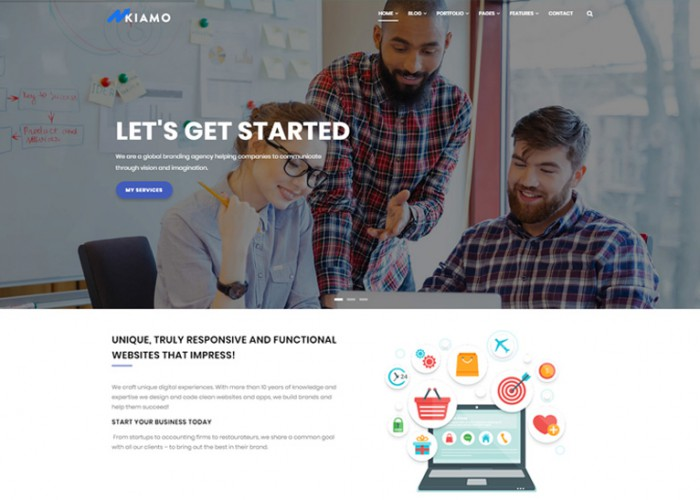 Kiamo – Premium Responsive Business Service Drupal 8 Theme