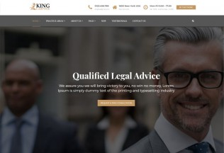 Kinglaw – Premium Responsive Attorney & Lawyer HTML5 Template