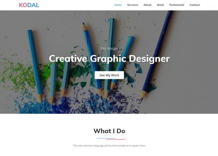 KODAL – Premium Responsive Personal Portfolio HTML5 Template