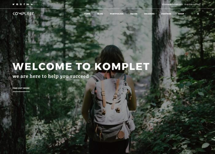 Kompleet – Premium Responsive Multipurpose Drupal 8 Theme