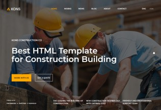 Kons – Premium Responsive Construction and Building HTML5 Template