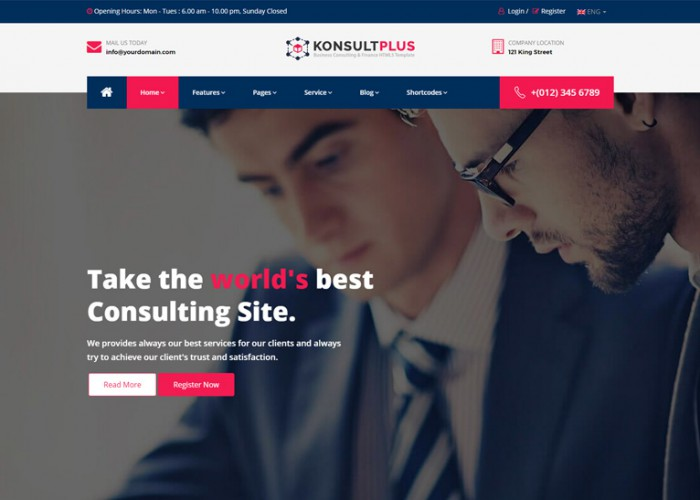 KonsultPlus – Premium Responsive Business Consulting & Finance HTML5 Template