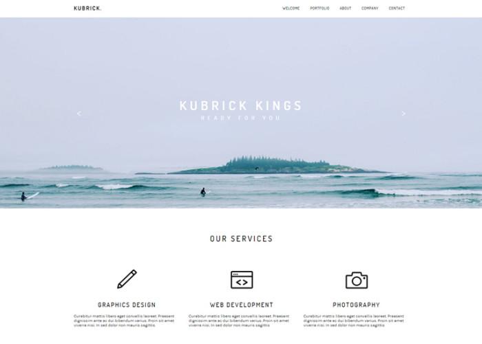 Kubrick – Premium Modern Muse Theme